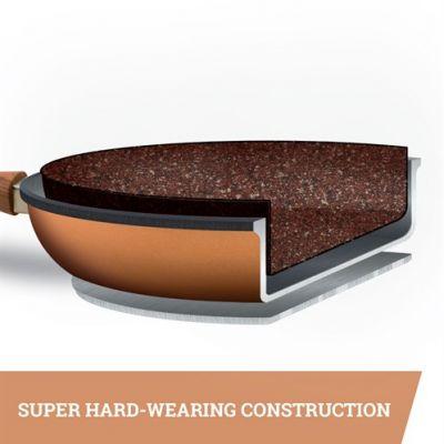 Copper Stone Pans - 28cm