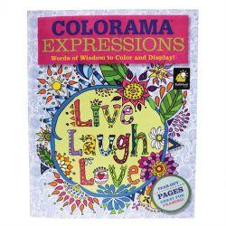 Colorama Expressions Adult Colouring Book