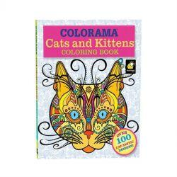 Colorama Colouring Cats & Kittens Adult Colouring Book