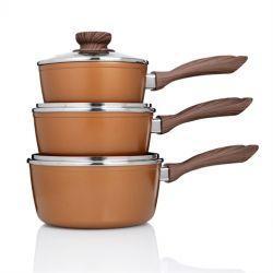 Copper Stone Pans - Saucepans